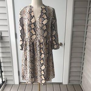 Maeve Anthropologie Juno Snakeskin Dress Rare